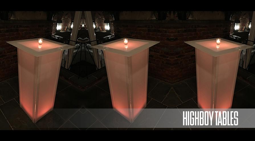 Light Up High Boy Tables