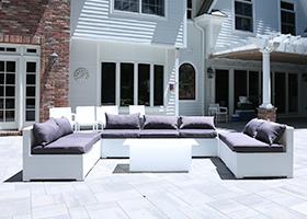 White Wicker Outdoor Furniture Rentals